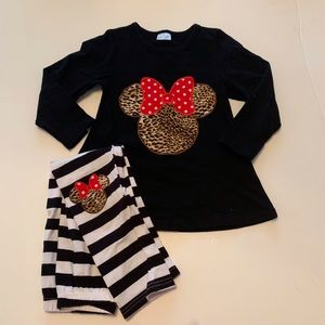 EUC Minnie Mouse Inspired Outfit Size: Large/5t